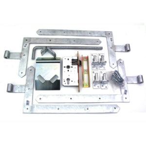 Torbeschlag schwer für Doppeltore mit Winkelbändern 63016