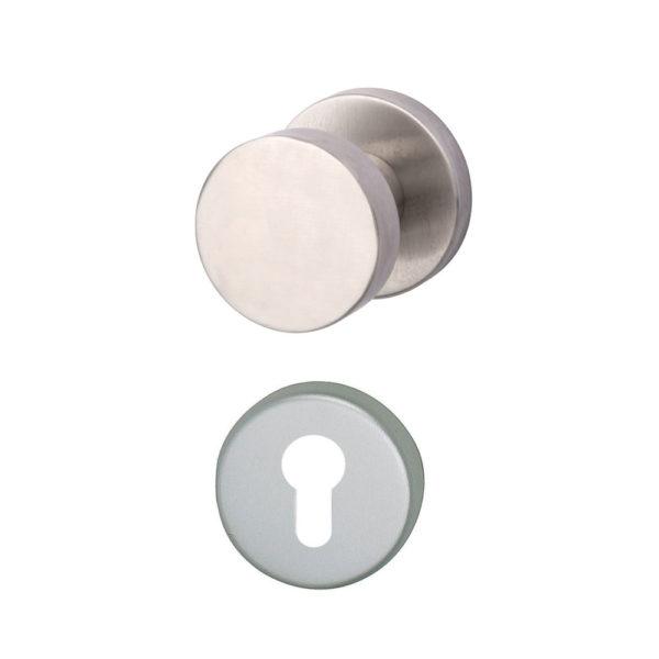 Knopf-Druecker-Rosettengarnitur-Aluminium-PZ