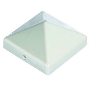 Pfostenkappe Aluminium weiß