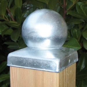 Pfostenkugel aus Stahl verzinkt