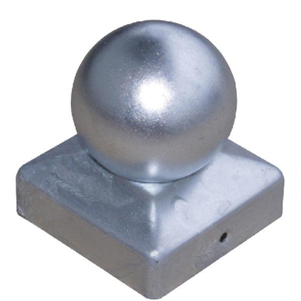 Pfostenkugel aus Stahl verzinkt Detail