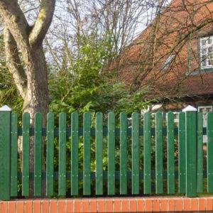 Vorgartenzäune aus Holz