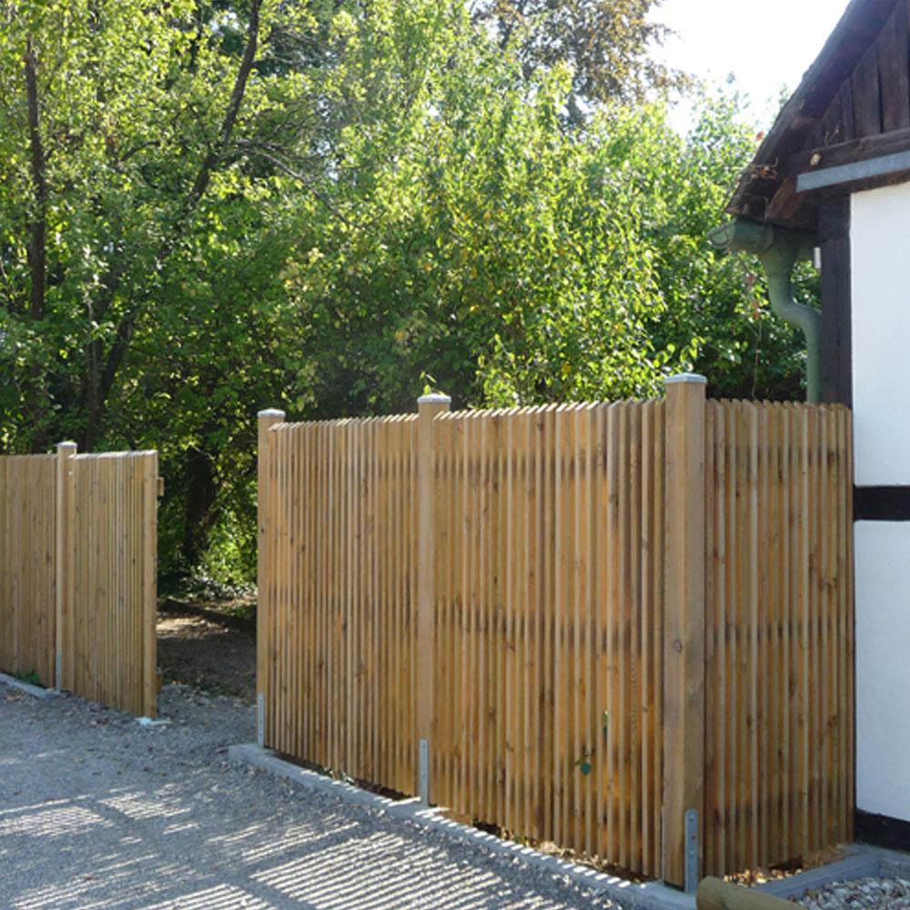 Zaunelement Danemark Massive Holzelemente Mit Geschragten Staketen
