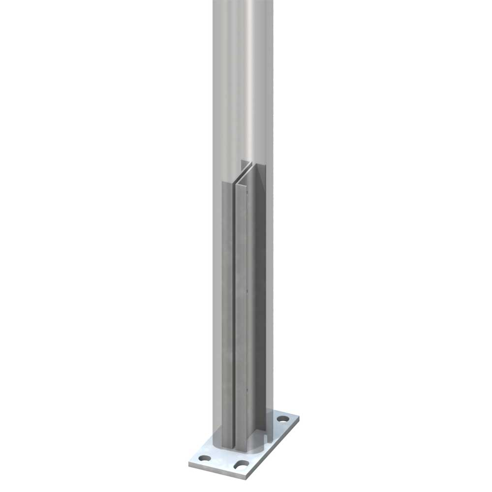 system eck steckpfosten 7x7 cm zum aufschrauben aus aluminium. Black Bedroom Furniture Sets. Home Design Ideas