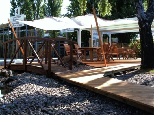 GK Fachmarkt Gartenholz Musterausstellung Terrassendielen