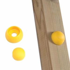 Schraubenabdeckung für Spielturm gelb