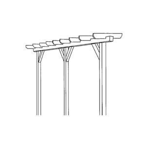 Pergola-Bausatz-Skizze