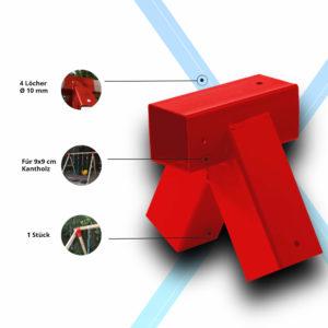 Schaukelverbinder für Kantholzschaukeln 9x9 cm (1)