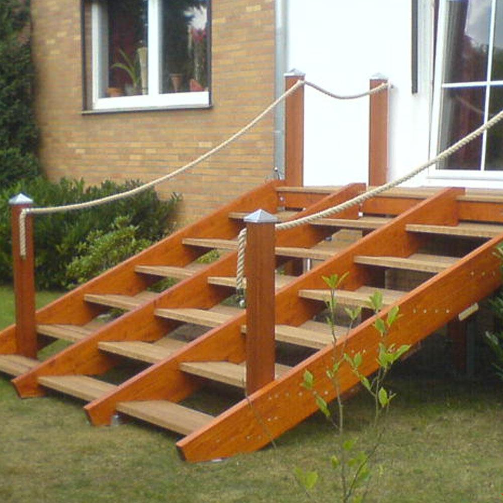 treppe außen selber bauen