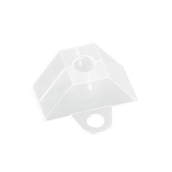 Abstandshalter Trapez 76x18 klar