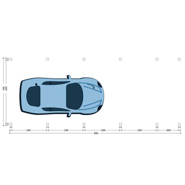 Carport Stuttgart Pfostenplan Typ 4