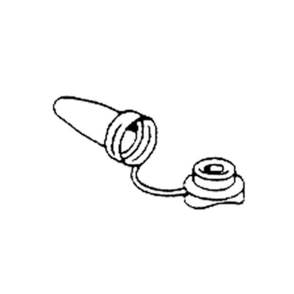 Kombikappe-schwarz-M6-lange-Haube-Unterseite-gewellt-für L-Haken-Hakenschraube-Rohrhaken