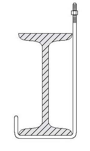 L-Haken Stahltraeger