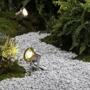 LED Gartenstrahler Catalpa aus Edelstahl