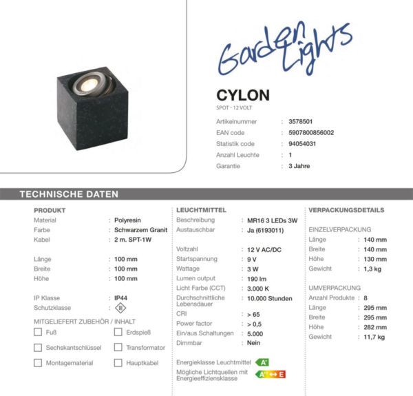 LED-Spot-Cylon-Granit