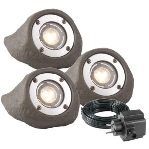 LED Strahler-Set Lapis in Steinoptik