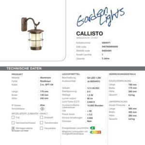 LED Wandleuchte Callisto