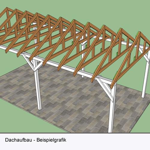 Carport Leipzig ohne Dacheindeckung