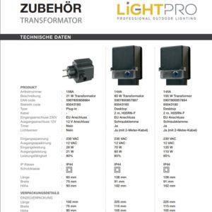 Lightpro-Aussentransformatoren