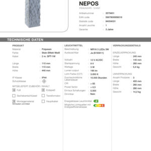 LED Standleuchte Nepos