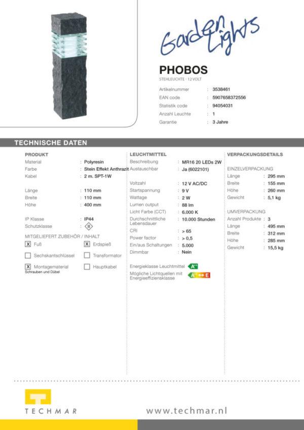 LED Standleuchte Phobos