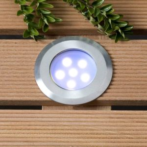 LED Bodeneinbauleuchte Sirius blau