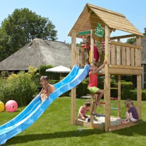 Spielturm-Cabin-mit Rutsche