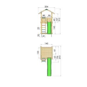 Spielturm Chalet Abmessungen