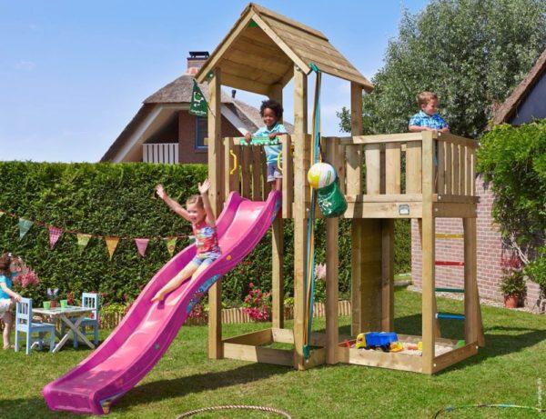 Spielturm Mansion mit Rutsche