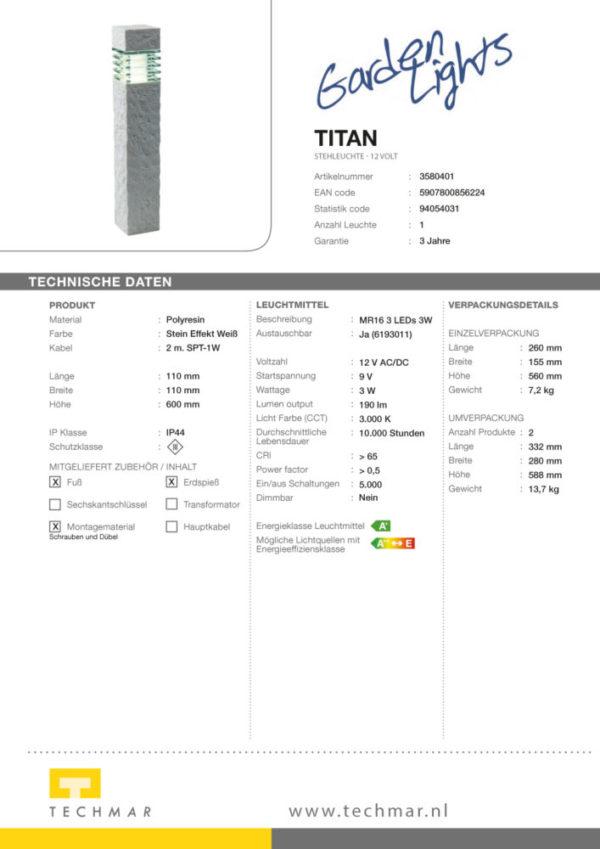 LED Standleuchte Titan