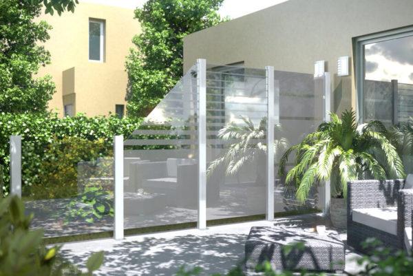 System Glas - Zaunelelemt aus Sicherheitsglas