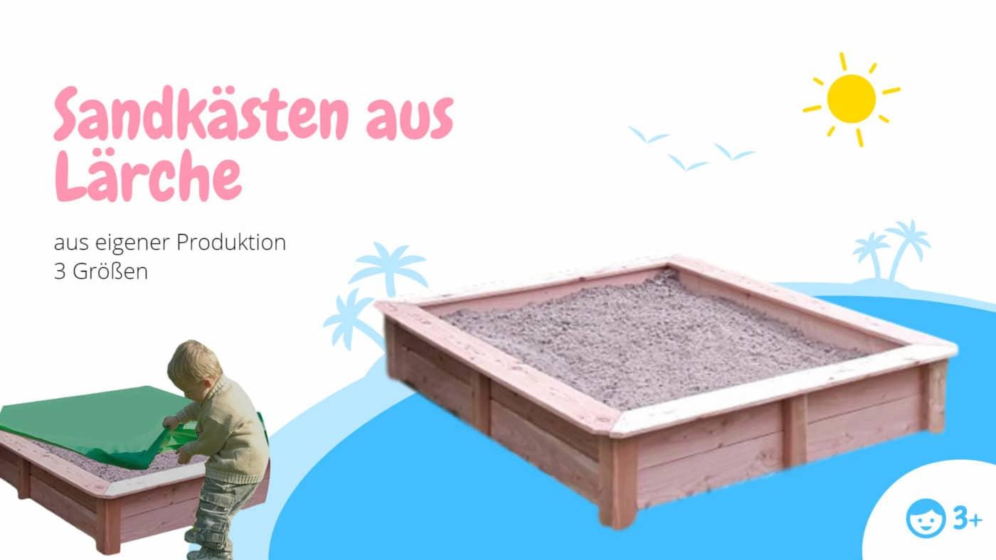 Sandkasten aus Laerche (1)