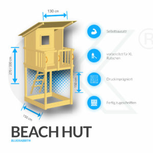 Blue Rabbit Kletterturm Beach Hut
