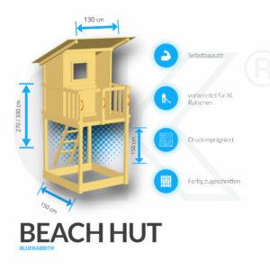 Blue Rabbit Kletterturm Beach Hut