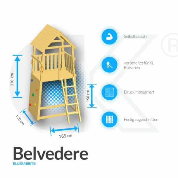 Blue Rabbit Kletterturm Belvedere