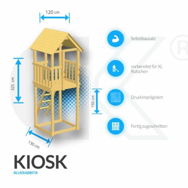 Blue Rabbit Spielturm Kiosk