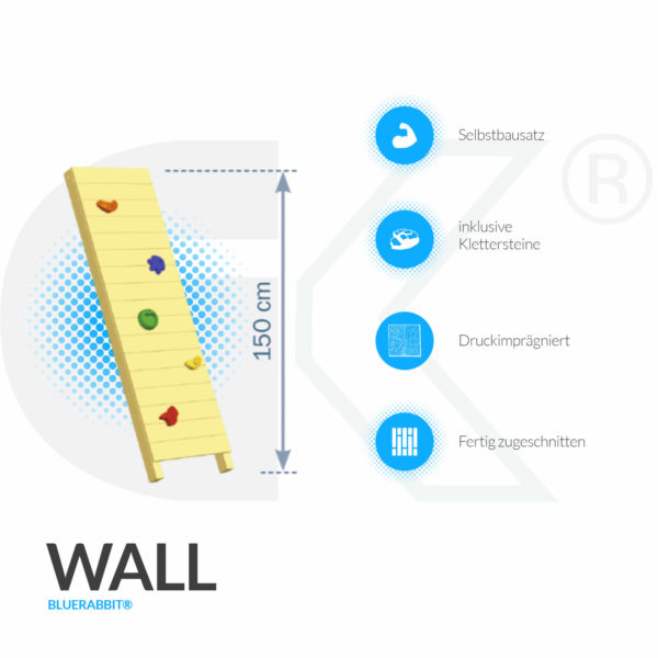 Blue Rabbit Kletterwand Wall